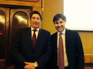 Enrico Lupi con il Vice Ministro Andrea Olivero