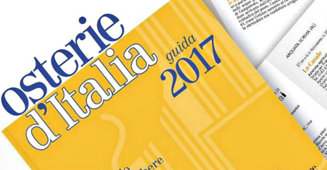 Osterie d' Italia 2017: focus su accoglienza ed ospitalità